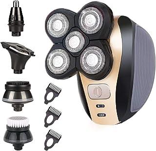 Rasoir Electriques Hommes Cheveux,5 en 1 Razoir Electric Homme, 4D Tondeuse à Barbe Pour Poils de nez Rotatif étanche Homm...