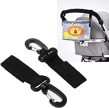 Mmnas 2 ganchos para cochecito de bebé, silla de ruedas, cochecito, carrito, bolsa, bolsa de la compra, accesorio para cochecito