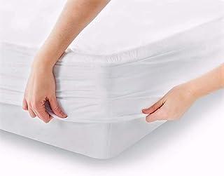 Melunda Impermeable Protector de Colchón - 200 x 200 cm - Cubre Colchón de Algodón - Elástica y Ajustable - Antiácaros, Hipoalergénicos, Testados Dermatológicamente