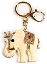 Rhinestone Elephant Keychain Enamel Crystal Handbag Key Charm Ring Pendant Chain