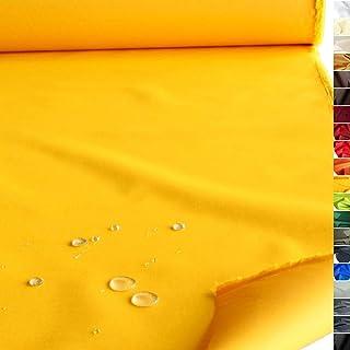 TOLKO wasserfester beschichteter Nylon Stoff | fester Segeltuch Planenstoff als Nylonplane für Aussenbereich | Reißfest und Langlebig | Meterware 150cm breit schwerer Outdoorstoff Gelb