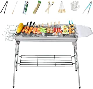 Premium Portable Stainless Steel Charcoal BBQ Grill Outdoor Picnic Camping