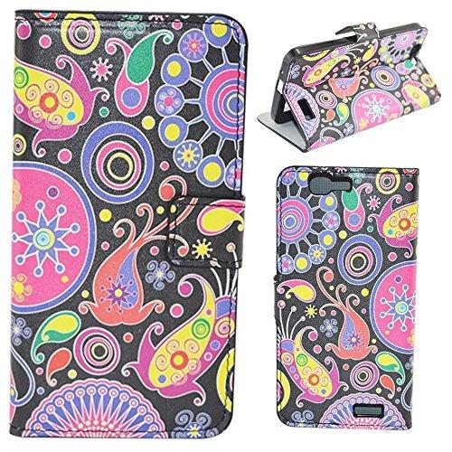 HUANGTAOLI Custodia in Pelle Portafoglio Flip Case Cover per Huawei Ascend G7 Smartphone,Display 5.5 Pollici