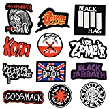 20 Heavy Metal Music Band Logo Patchs
