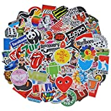 100 Pieces Waterproof Vinyl Stickers for Personalize Laptop, Car, Helmet, Skateboard, Luggage Graffiti Decals (V - section)