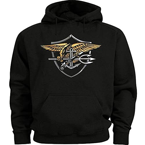 US NAVY SEALS SWEATSHIRT BLACK HOODIE USNS d6750f720e5