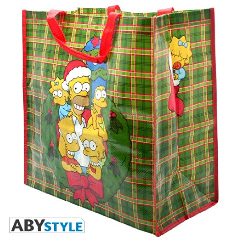 ABYstyle - ABYBAG004 - Puériculture - Simpsons - Shopping Bag - Christmas Family