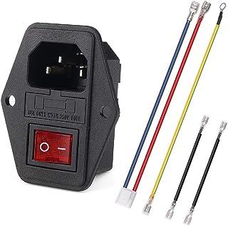 Inlet Module Plug 5A Fuse Switch Male Power Socket w Switch Plug 10A 250V 3 Pin IEC320 C14 …