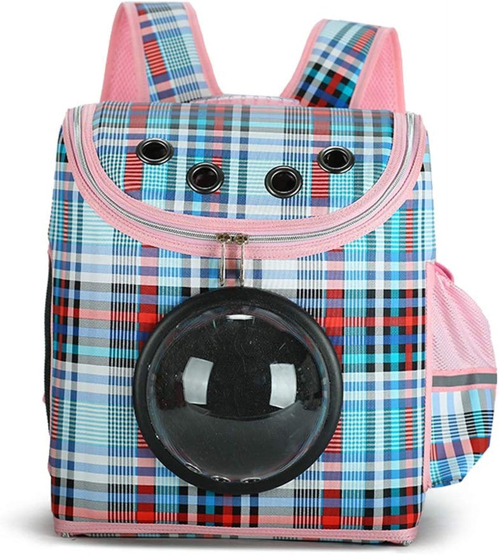 AmzGxp Pet Bag Easy To Carry Shoulder Cat Pet Space Bag Out Travel Bag Breathable Backpack (color   bluee)