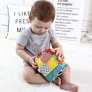 Perfeclan 6 in 1 Kleurrijke Stoffen Kubussen Pluche Kubussen Montessori Speelgoed Kleuterschool Educatief Speelgoed