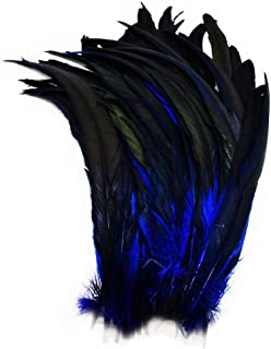 Everyshine 240 Pcs Dyed Nature Rooster Coque Tails Feather 10-12 inches (Navy Blue)