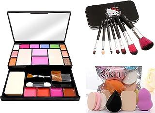 TYAGEN-II Fashion Makeup Kit for Girls + Premium Makeup Brushes + PRO TYA Makeup Sponges (6171+HK BLACK)