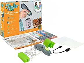 3Doodler Start Architecture Themed 3D Pen Set for Kids, Grey Pen, with 4 Pack of Refill Plastic Filaments