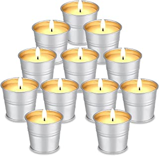 Aottom Citronella Scented Candles Gift Set 12 Pack Soy Wax Bucket Candle 10 -13 Hour Burn Indoor and Outdoor