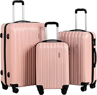 Rose Home Fashion Luggage Suitcase Set with 4 Universal Wheel Suitcases,Expandable Spinner Wheel Luggage3 Piece Luggage Su...
