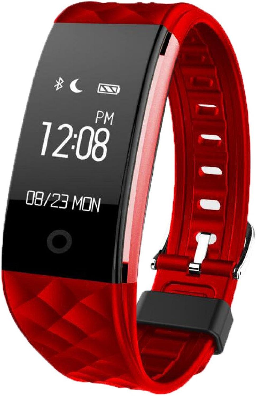 Heart Rate Sleep Monitor Sport Bracelet Lift The Door Bright Screen Information To Remind The Waterproof Sleep Monitor Smart Watch,RedOneSize