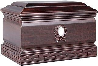 JCCOZ-URG Photo Inlay Black Rosewood Material Moisture-Proof Urn for Adults Urn Commemorative Box(33.5x22x22.5CM) JCCOZ-URG