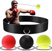 Reflex Ball avec Bandeau de T/ête Vos R/éflexes Ballon de Boxe pour La Formation de Vitesse R/éflexe Punch Exercice Entra/înement Combat Am/éliore Votre Vitesse Coordination DYBOHF Balle de Combat