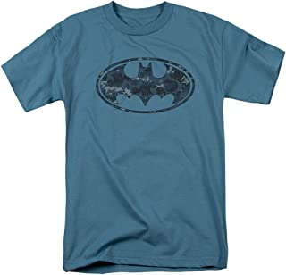 Camiseta de Batman con Escudo de Camuflaje Azul Marino para Adulto