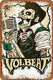 Volbeat Blech/Metall Stil Straßen-Poster Schild Garage