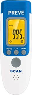 PREVE No Touch Forehead Thermometer for Fever -Digital Medical Infrared Thermometer for Baby, Infant, Toddler and Adults-Nurse Temporal Body Temperature Thermometer FDA Approved