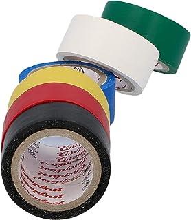 CARTREND 10526 Elektrische tape, gekleurd pvc, waterdicht, set van 6 kleuren