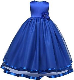 (ケヤカ) Keyaka 子供ドレス 女の子 ワンピース フリル ジュニア 全5色 ピアノ 発表会 パーディー 演奏会 リボン 花 フォーマル 結婚式 演奏会 卒業式 お嬢様 ドレス 可愛い おしゃれ