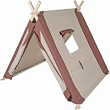 Pacific Play Tents 60000 Kids Natural Linen A-Frame Teepee Playhouse - 45