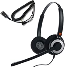 $68 » IPD IPH-165 Binaural NC Headset with 2.5mm Jack for Cisco SPA,Grandstream GXP,Panasonic KX, Zultys, Gigaset & 2.5mm Jack(3...