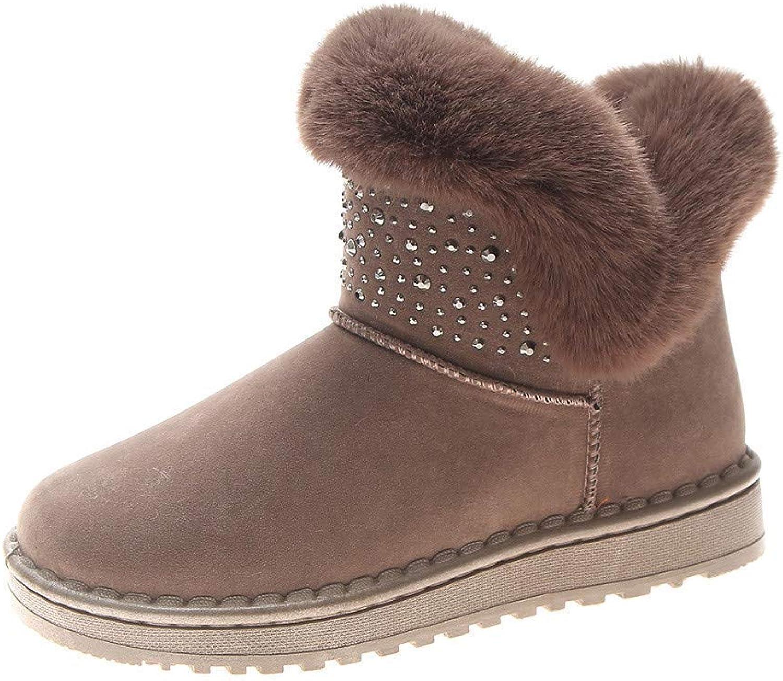 Lady stövlar kvinnor Winter skor Round Toe Warm mode mode mode Non -Slip Elegant Söt Vild Bomull Martin kort Snow stövlar  online mode shopping