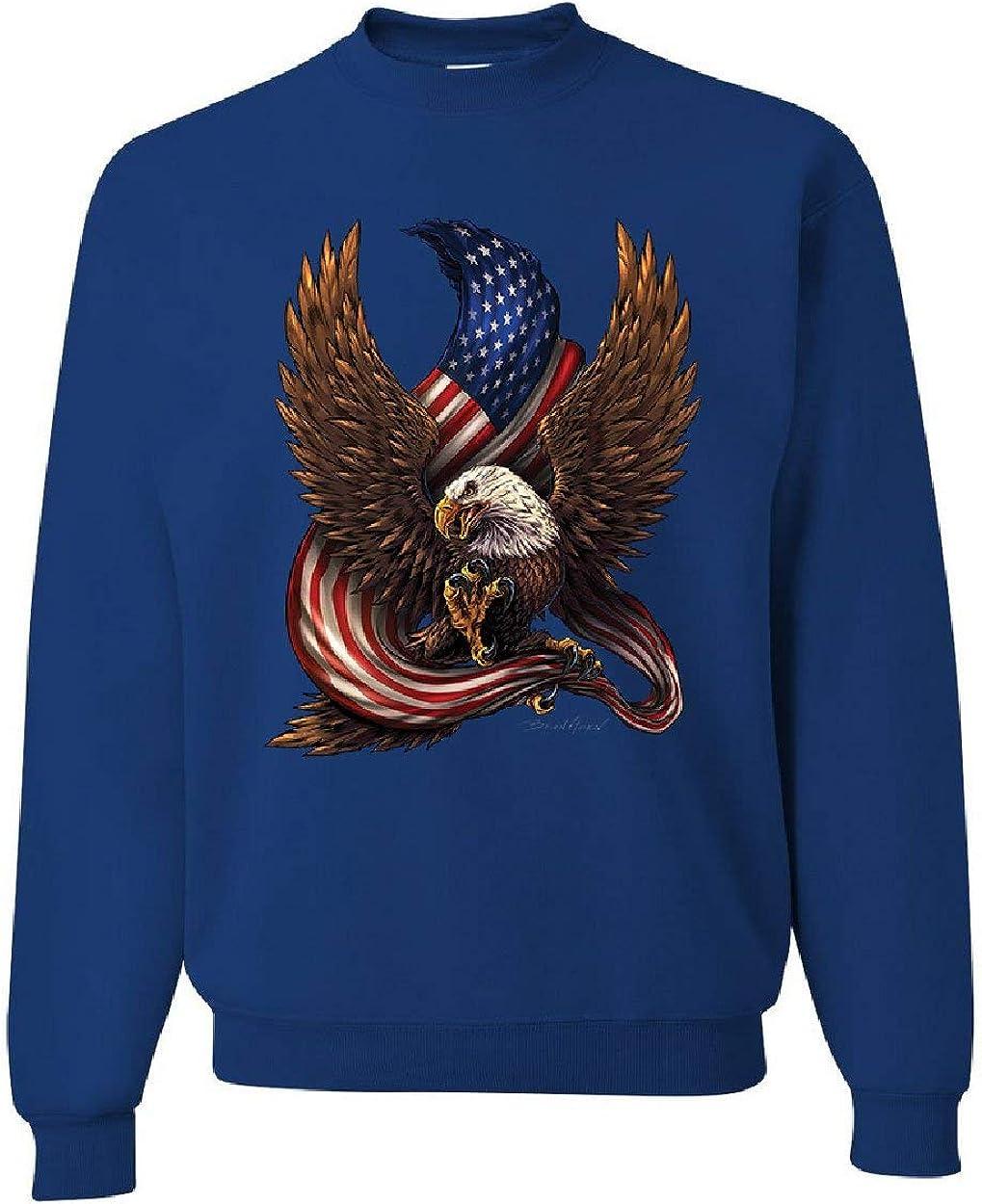 USA Stars and お得なキャンペーンを実施中 Stripes Sweatshirt Patriot 人気ブランド多数対象 American Eag Bald Pride