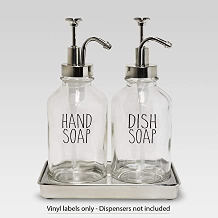 hand soap dish soap - vinyl decal sticker farmhouse kitchen