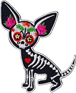 Evilkid Chihuahua Muerta PATCH, Iron-On / Saw-On, Carded & Packaged Individually - 3.75