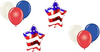 Patriotic Party Balloon Decorations Set - 4th of July Memorial Day Decor - Military Welcome Home Celebration Supplies - Honor Our Veterans - by Jolly Jon ®