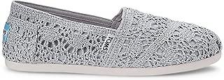 toms shoes silver crochet