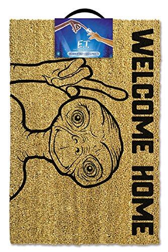E.T., Bienvenido a casa Felpudo, Coco, marrón, 60x 40x 1,5cm