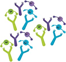 Kicko Best Party Favor Slingshot Toys | Pack of 8 - Finger Flinger Emoji Toys - Plastic Flying Toy for Kids Party Favor- Bag Stuffers, Fun, Party, Games, Prize, Kids Toys, etc.
