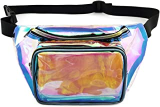 Packism Fanny Pack, Clear Fanny Pack NFL Stadium Approved Thick 0.6mm Transparent Waist Pack for Women and Men, Waterproof Bum Bag for Events and Travel