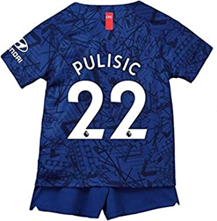 2019-2020 Pulisic # 22 Chelsea Boys/Girls Home Soccer Jersey