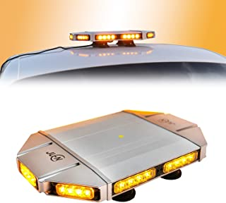 Amber Hazard Warning Strobe Light Bar, JUEN H-1 Emergency Mini LED Light bar, 40LED 18