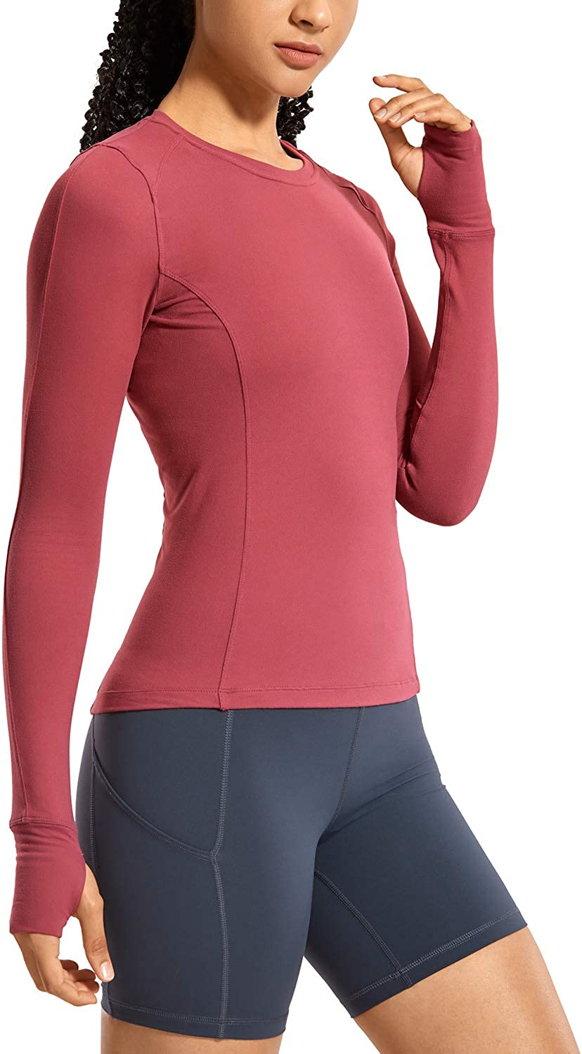CRZ YOGA Women's Long Sleeve with Max 83% Safety and trust OFF Shirt Slim Thumbholes Running
