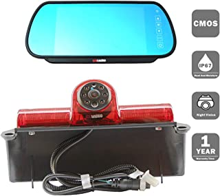 KNRAGHO Third Brake Light Placement Camera with Monitor fit for Chevrolet Express GMC Savana Cargo Van (with Monitor)