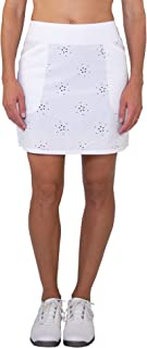 Jofit Women's Laser Cut Woven Mina Skort, Fitted Athletic Clothes for Golf and Tennis