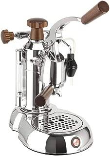 La Pavoni PSW-16 Stradavari 16-Cup Espresso Machine, Chrome with Wood Handles