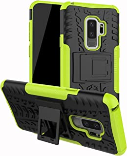 FOLICE Samsung Galaxy S9 Plus Case Tough Rugged Dual Layer Protective Case with Kickstand (Green)