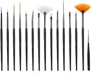 black nail art pen designs