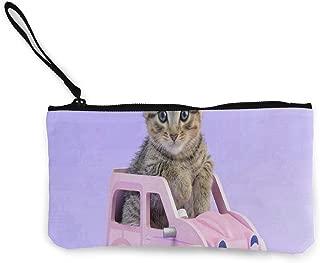 Coin Purse Kittens Christmas Blue Ladies Zip Canvas Purses TravelAmazing Bag