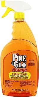 Pine Glo Antibacterial and Disinfectant Cleaner, Hospital Grade and EPA Registered. Orange Scent 33 Fl oz Spray Bottle