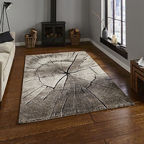 HomeLinenStore Moderne Umwelt inspiriert natur Holz wie beige Farbe Teppiche/Teppich Teppiche, Polypropylen, beige, 120 x 170 cm