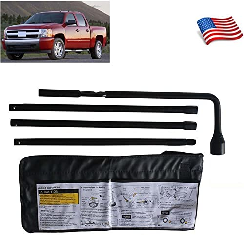 lowest For Chevy outlet online sale GMC Silverado Sierra Spare Tire Repair Tool Lug Wrench Kit with Storage Case lowest 22969377 20782708 sale